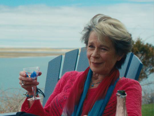 "In 'Year by the Sea,""  Erikson (Celia Imrie) offers"