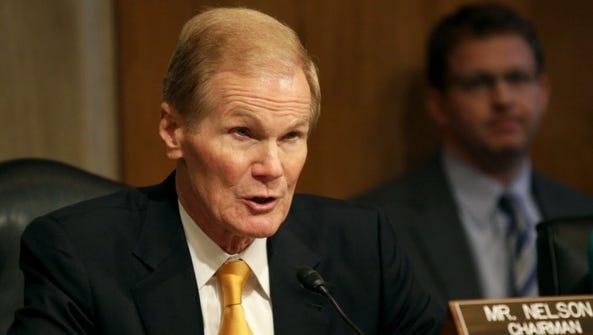 Sen. Bill Nelson, D-Fla. speaks on Capitol Hill in