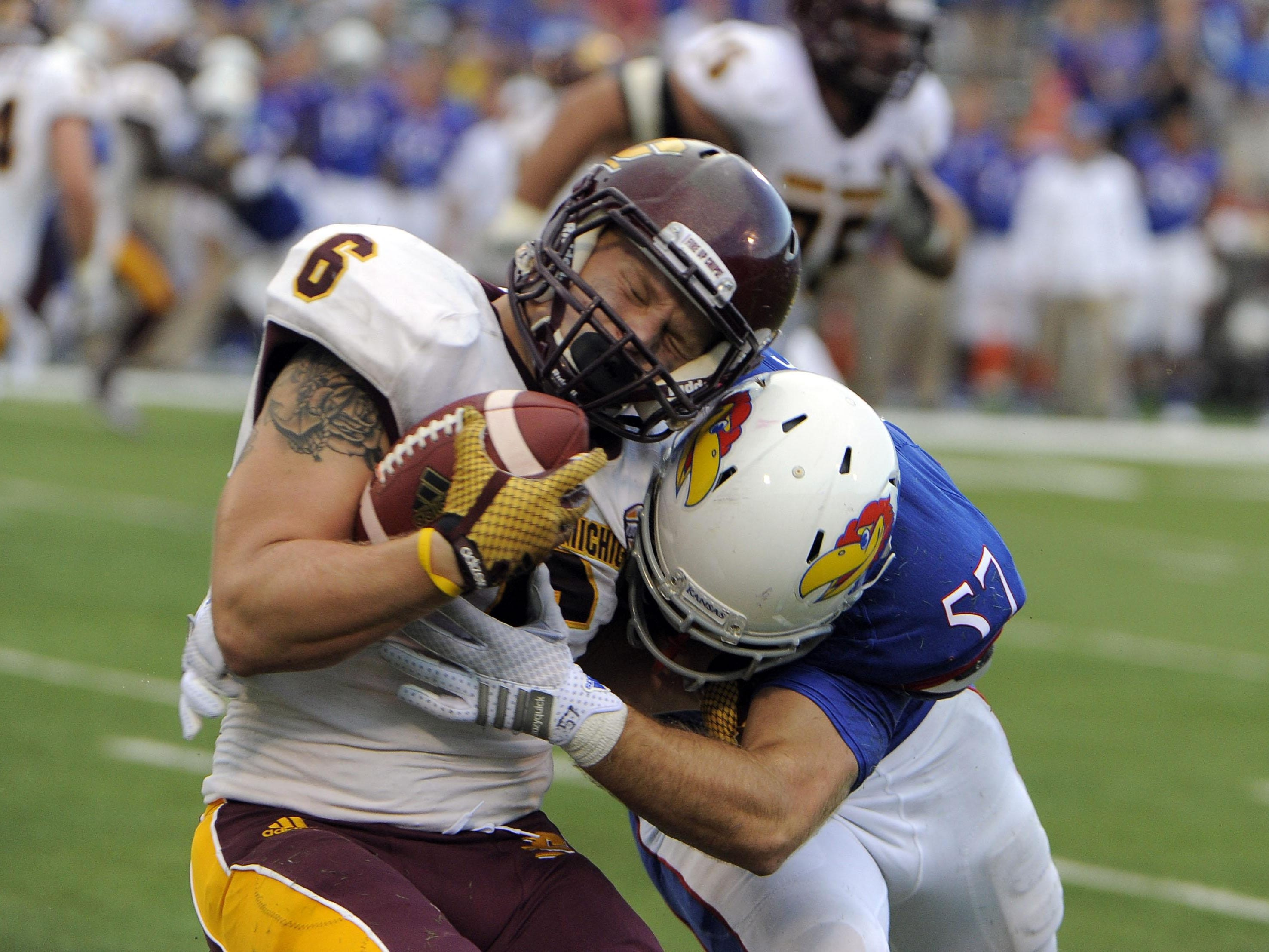 Senior running back Saylor Lavallii will serve as a student assistant coach for CMU this fall.