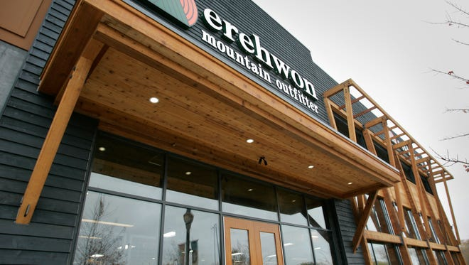 Erehwon Mountain Outfitter, a small retail chain with a store at Bayshore Town Center, will be purchased by Camping World Holdings Inc.