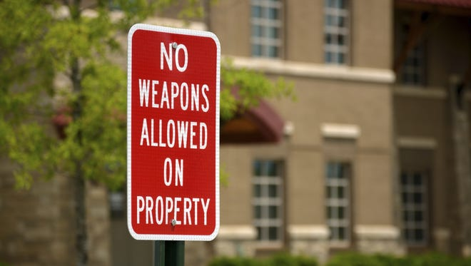 PHOTO ILLUSTRATION: No gun zone