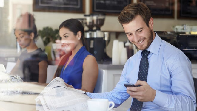Setting up in a local coffee shop on a regular basis is a great way to network and strike up conversations in a relaxed environment.