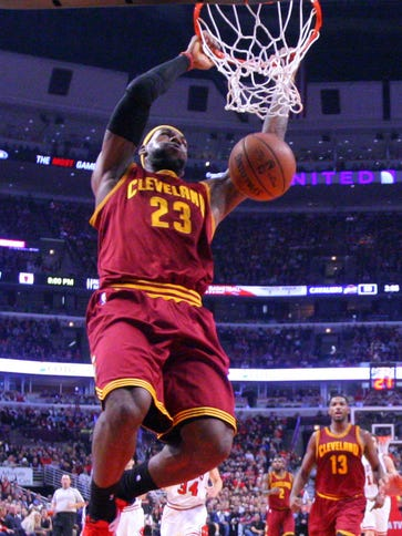LeBron James scored eight of the Cavaliers' 16 points