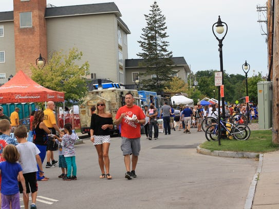 Visitors to the Fairport Music Festival on Saturday