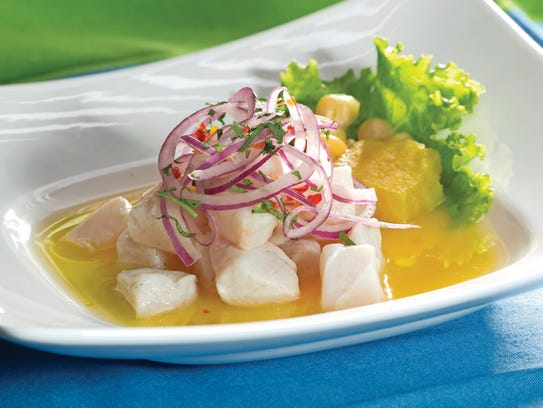 This version of ceviche is featured on Morena Cuadro's