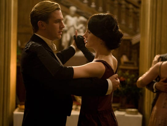 Matthew Crawley (Dan Stevens), left, and Lady Mary