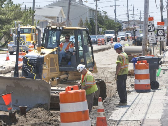 Construction on Route 35.