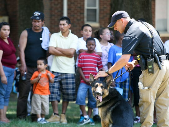 New Castle County Police Officer Robert Vasecka and