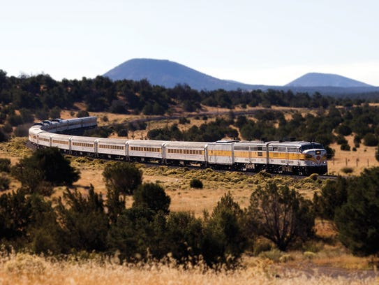 The Grand Canyon Railway connects Williams, Ariz.,