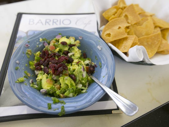 Chips and guacamole at Barrio Cafe at Terminal 4 in