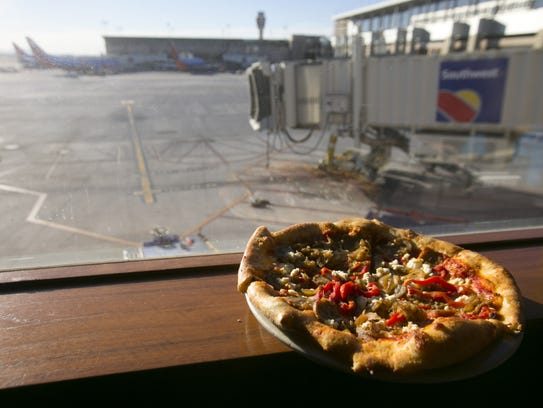 SOP Pizza from Humble Pie at Terminal 4 in Phoenix