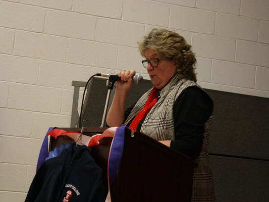 Melissa Tingley, coordinator of the Founders' Day Celebration,