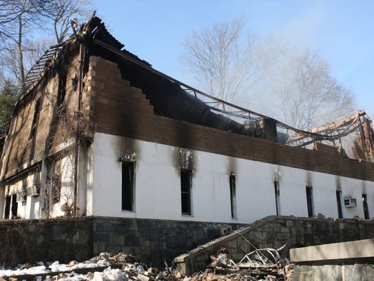 A school building was destroyed by a fire at a New