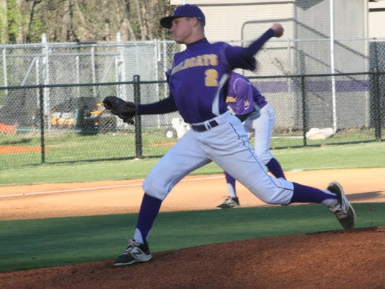 Clarksville pitcher Gavin Hams rears back to throw