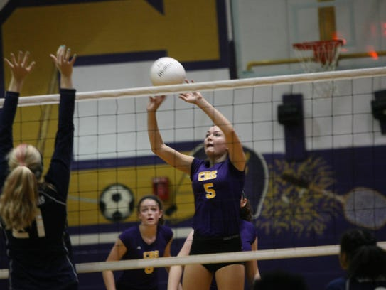 Clarksville High captured the volleyball district title