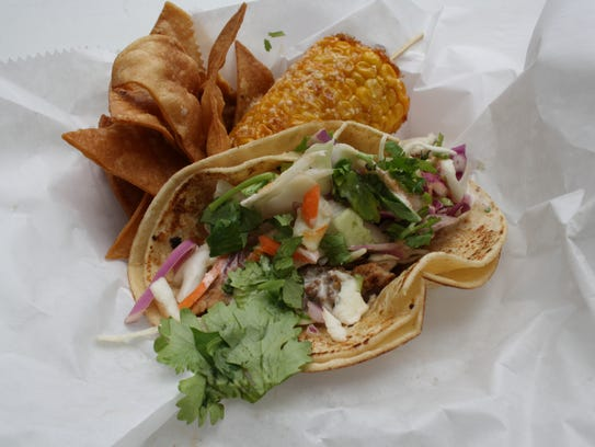 Tacos are the vehicle for the gator speidie, sold by