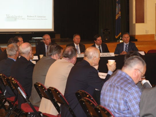 Westchester County and local officials meet at the
