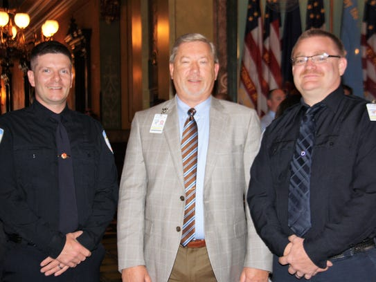Jon-Marc Chandler is pictured with Ken Cummings and