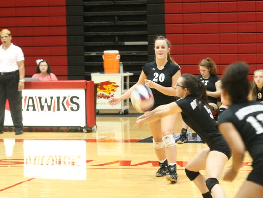Rossview players return a shot from Dyer County during