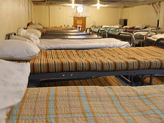 The communal sleeping room