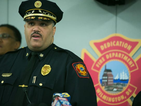 File photo: Wilmington Fire Chief Anthony Goode speaks