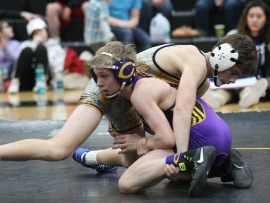 Clarksville High's Christian Isbell participates in