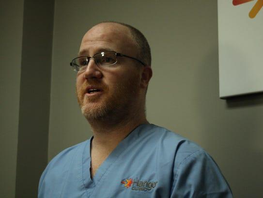 Ryan Stark, board certified in prosthetics at the Hanger