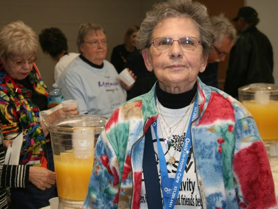 Peggy Austin, 81, who visits the center four times