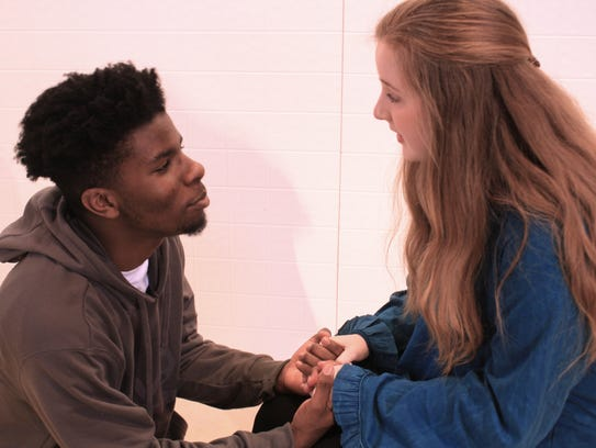 Trent Bryant (left) as Tommy Ross with Emma Barkley