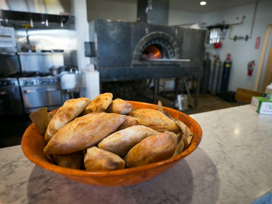 Homemade bread at the new yet to be opened Roland's,
