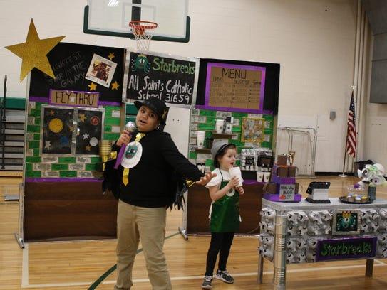 All Saints Elementary School fifth-grader Nader Sabewi,
