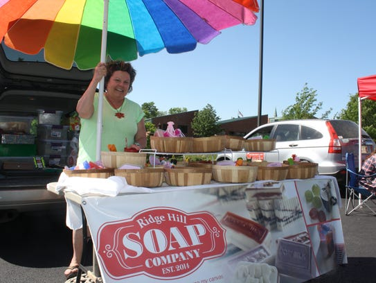Vickie Fritzsche, of Ridge Hill Soap Co. in Highland