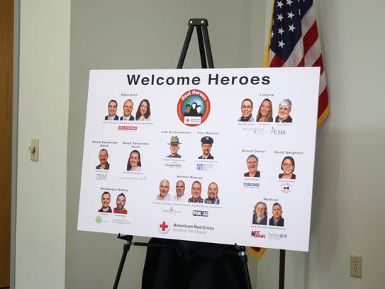 A total of 20 local heroes will be honored at the Real