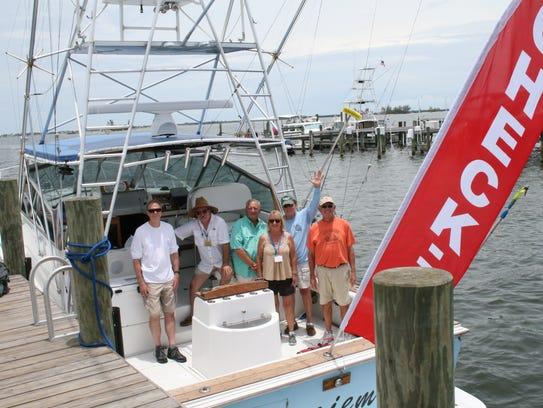 Volunteers on the 2017 Check In Boat: Bill Kriener,