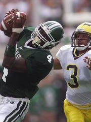 Michigan State's Plaxico Burress had 255 receiving