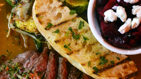 The chimichurri grass-fed steak at Urban Plates comes