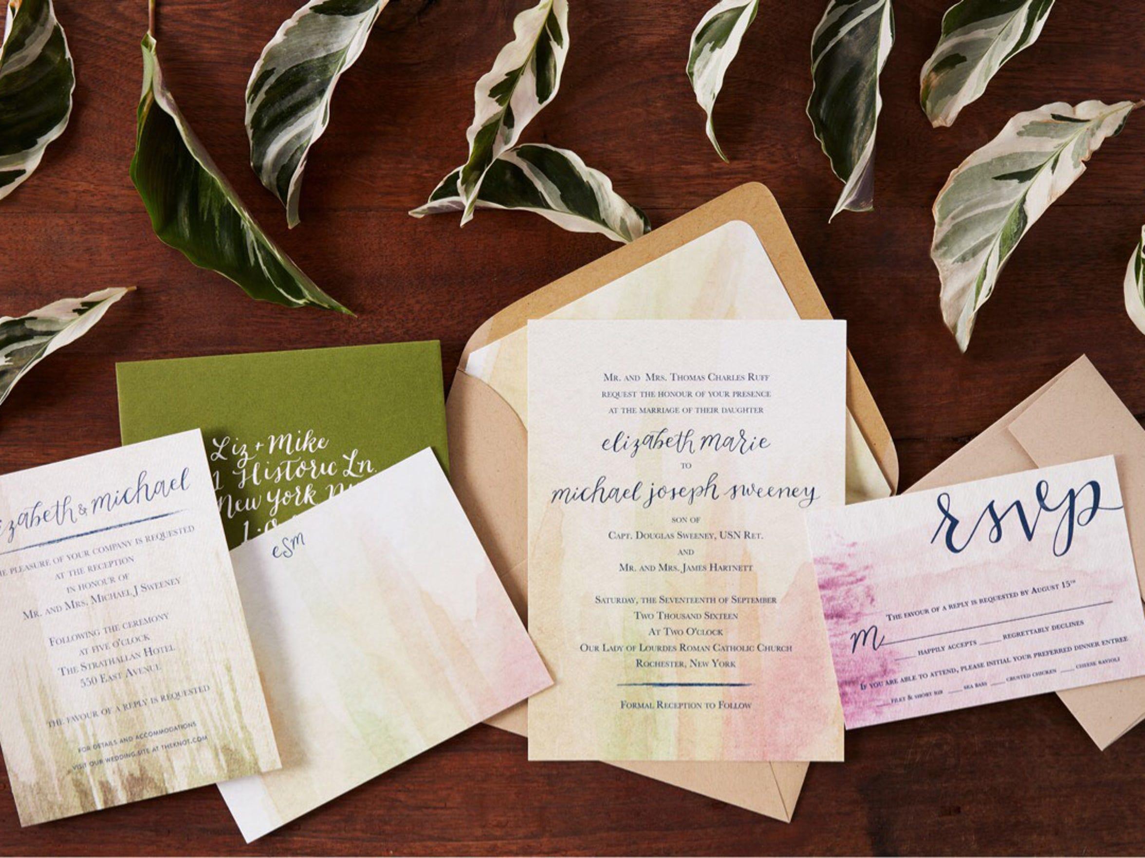 Handmade invitations: Sugar & Type