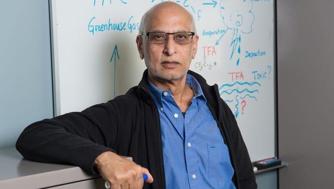 A.R. Ravishankara, Professor of Chemistry and Atmospheric Sciences, Colorado State University, January 16, 2014