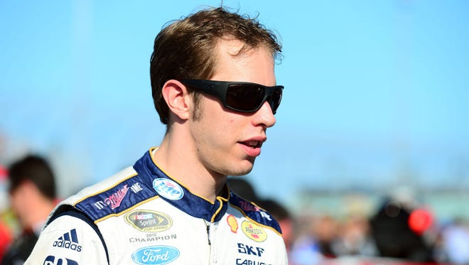 2012 Sprint Cup champion Brad Keselowski says NASCAR listens to him but he's not as outspoken as he used to be.