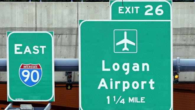 The Entrance of the eastbound Ted Williams Tunnel going to Logan Airport is seen in Boston, Thursday, July 20, 2006.
