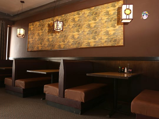 The interior of Fuji Restaurant in Marshfield, May