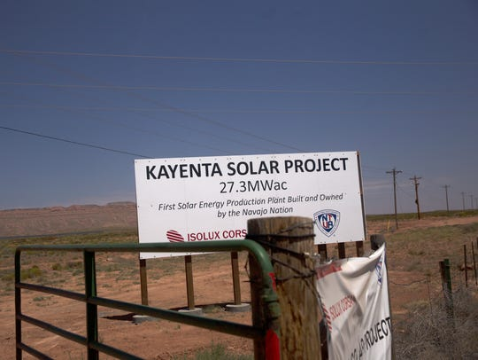 The Kayenta Solar Project facility in Kayenta, Arizona