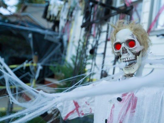 Halloween decorations outside 93 Walnut St. in Bloomfield.