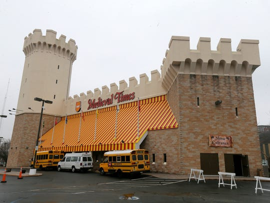 Exterior of Medieval Times in Lyndhurst, NJ Thursday