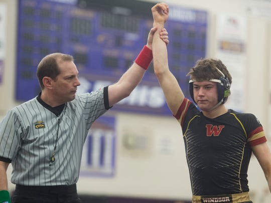 Windsor's Will VomBaur is one of three Wizard wrestlers with a state championship on their resume. Windsor is one of the top title contenders in 4A.