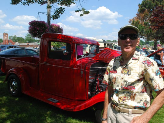 Ed Elsholz, of St. Clair, brought his 1935 Chevrolet half-ton pickup to the St. Clair Classic Car Show on Saturday.
