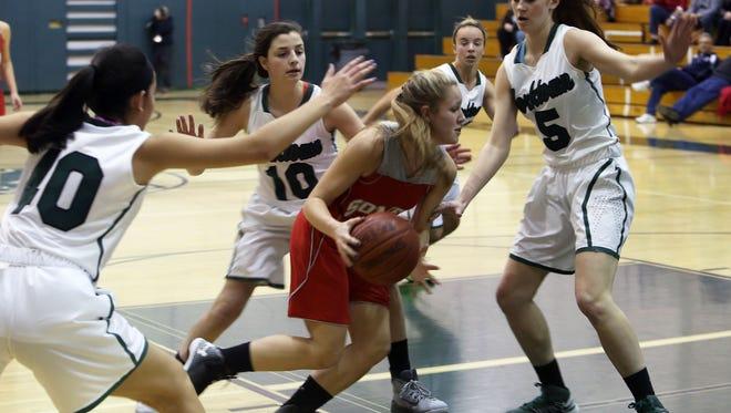 Somers defeated Yorktown 49-43 in a girls basketball game at Yorkktown High School Jan. 17, 2015.