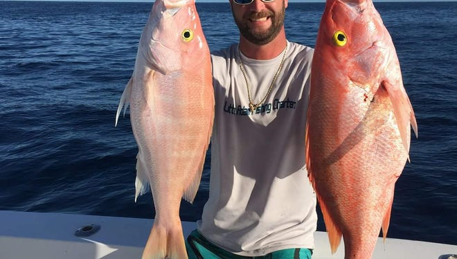 Go deep for yelloweye snapper, like Capt. Richard Hunt of Little Adam fishing charters of Fort Pierce did earlier this week during a trip to West End, Bahamas.