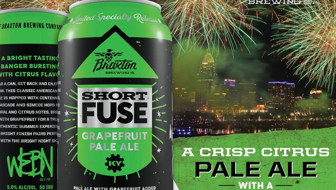 Braxton Brewing will release Short Fuse, the official beer of the WEBN Fireworks, Friday.