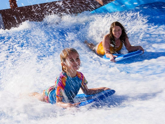 The FlowRider surf simulator is a popular attraction